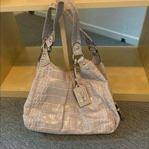 COACH MADISON MAGGIE CROC EMBOSSED LEATHER Bag